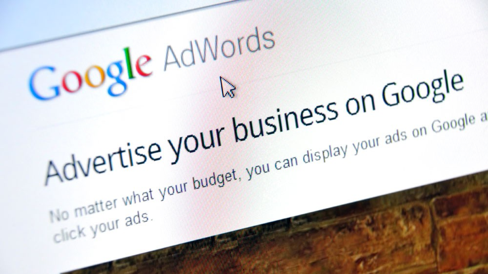 Screenshot of the Google AdWords website.