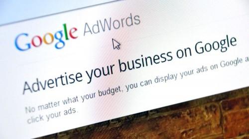 Screenshot of the Google AdWords website.