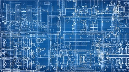 Technical drawing blueprint